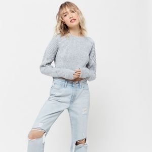 UO Big Sur Essential Ribbed Cropped Sweater